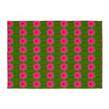 I Love Jesus (flowers) Green Rug 5'x7'Area Rug