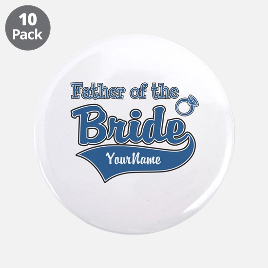 "Father of the Bride 3.5"" Button (10 pack)"