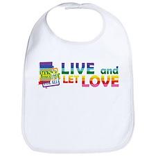 Live Let Love RI Bib