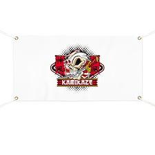 Kamikaze Skull Banner