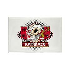 Kamikaze Skull Rectangle Magnet