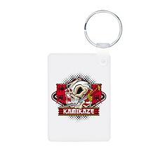 Kamikaze Skull Aluminum Photo Keychain