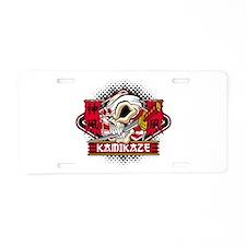 Kamikaze Skull Aluminum License Plate