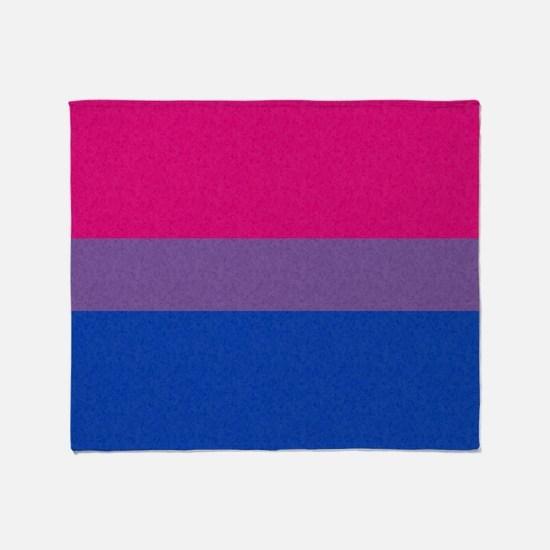 Bisexual Pride Flag Throw Blanket