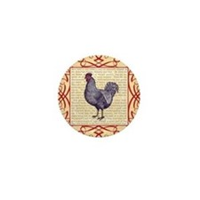 Vintage Plymouth Rock Chicken / Rooste Mini Button