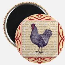 Vintage Plymouth Rock Chicken / Rooster Magnet
