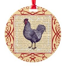 Vintage Plymouth Rock Chicken / Roo Ornament