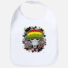 Jamaican Rasta Skull Bib