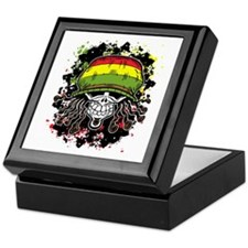 Jamaican Rasta Skull Keepsake Box