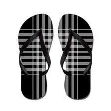 Cute Black and white checkered Flip Flops
