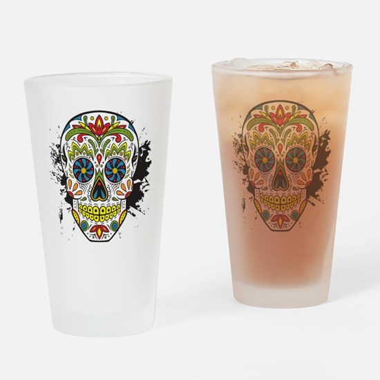 Día de los Muertos Skull Drinking Glass