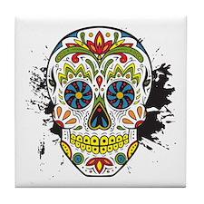 Día de los Muertos Skull Tile Coaster