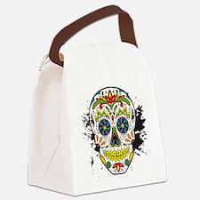 Día de los Muertos Skull Canvas Lunch Bag