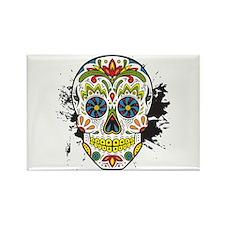 Día de los Muertos Skull Rectangle Magnet
