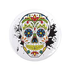 """Día de los Muertos Skull 3.5"""" Button (100 pack)"""