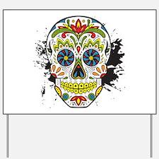 Día de los Muertos Skull Yard Sign