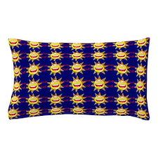 I Love God (suns) Blue Pillow Case