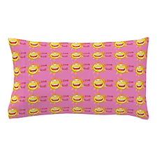 I Love God (suns) Pink Pillow Case