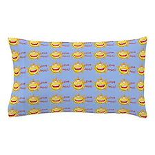 I Love Jesus (suns) Baby Blue Rug Pillow Case