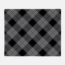 Cute Black and white checkered Throw Blanket