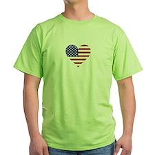 US Flag Heart T-Shirt