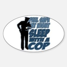 Feel Safe at Night, Sleep With a Co Sticker (Oval)