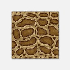 "Brown Python Square Sticker 3"" x 3"""