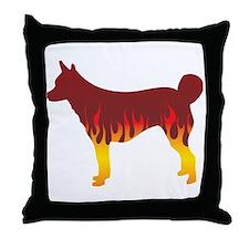 Lundehund Flames Throw Pillow