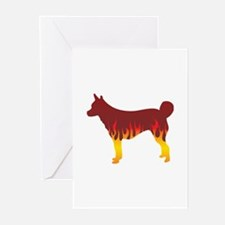 Lundehund Flames Greeting Cards (Pk of 10)