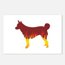 Lundehund Flames Postcards (Package of 8)
