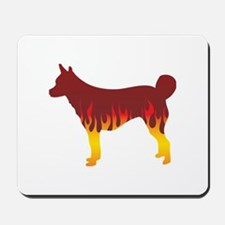 Lundehund Flames Mousepad