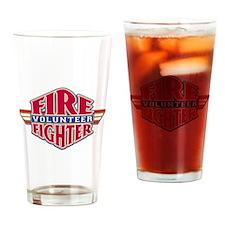 Volunteer Firefighter Drinking Glass