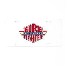 Volunteer Firefighter Aluminum License Plate