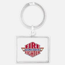 Volunteer Firefighter Landscape Keychain