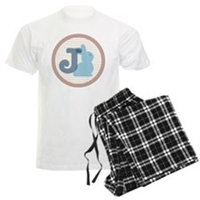 Letter J with cute bunny Pajamas
