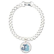 Letter J with cute bunny Bracelet