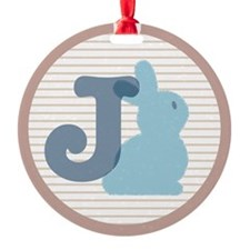 Letter J with cute bunny Ornament