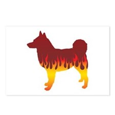 Elkhound Flames Postcards (Package of 8)