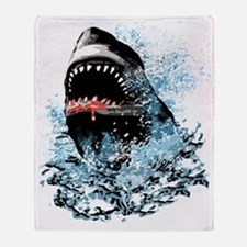 Awesome Shark Art! Throw Blanket