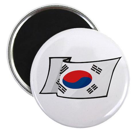 """Korean Flag 2.25"""" Magnet (100 pack)"""