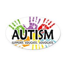 Cute Autism awareness Oval Car Magnet