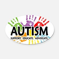 Cute Autism support Oval Car Magnet