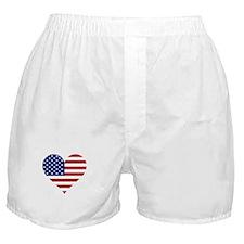 US Flag Heart Boxer Shorts