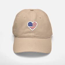 US Flag Heart Baseball Baseball Baseball Cap