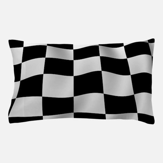 Black Racing Flag Checkerboard Pillow Case