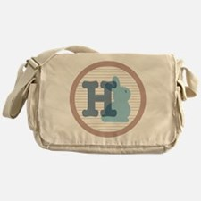 Letter H with cute bunny Messenger Bag