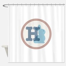 Letter H with cute bunny Shower Curtain