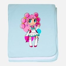 Lollipop Girl 2 baby blanket