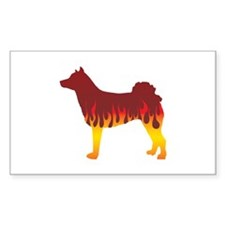 Norrbottenspets Flames Rectangle Decal