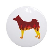 Norrbottenspets Flames Ornament (Round)